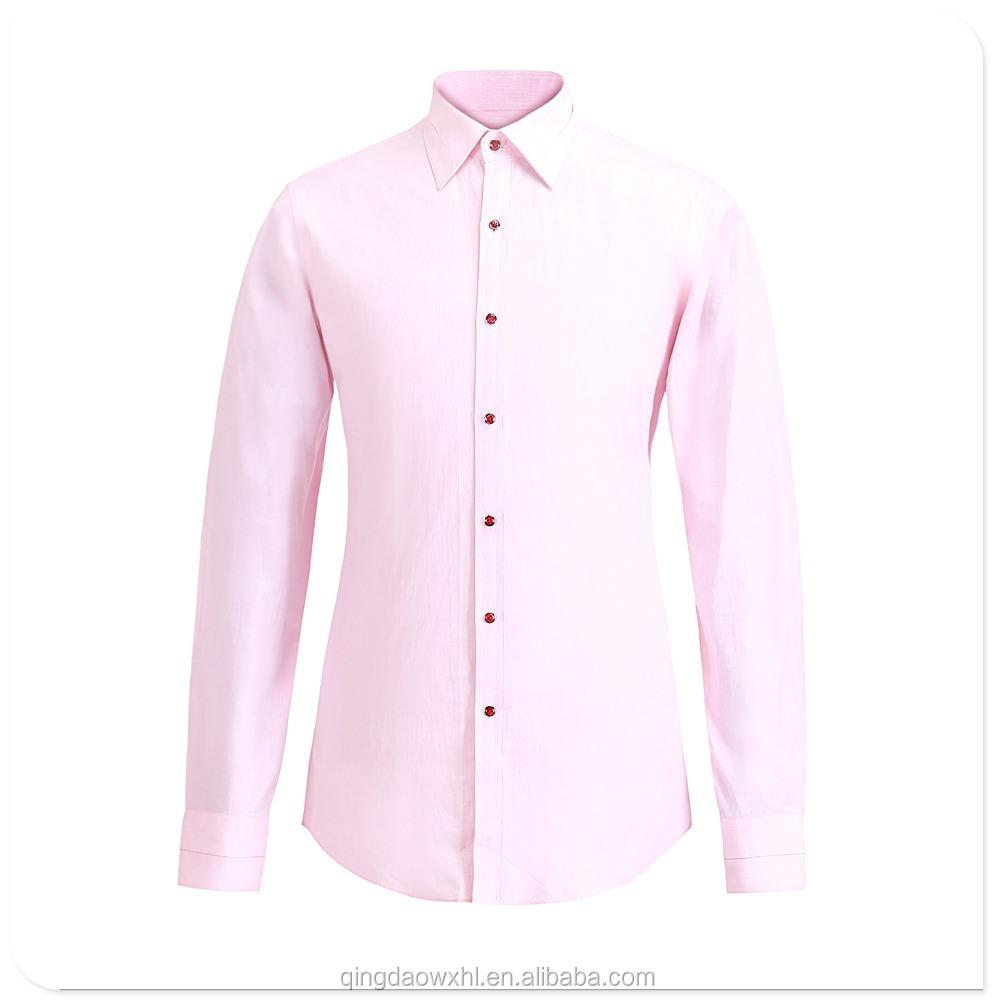 Custom made top quality pink shirt/fashional slim fit men shirt фото
