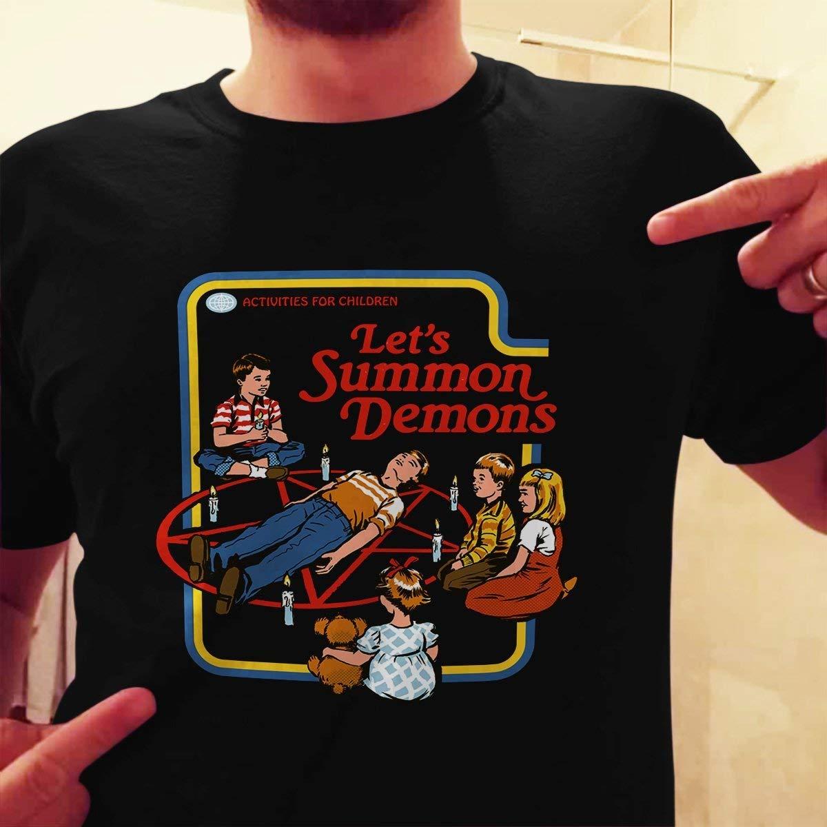 9915f3ea Get Quotations · Let's sacrifice toby activities for children, Let's summon  demons T-Shirt Let's Summon Demons