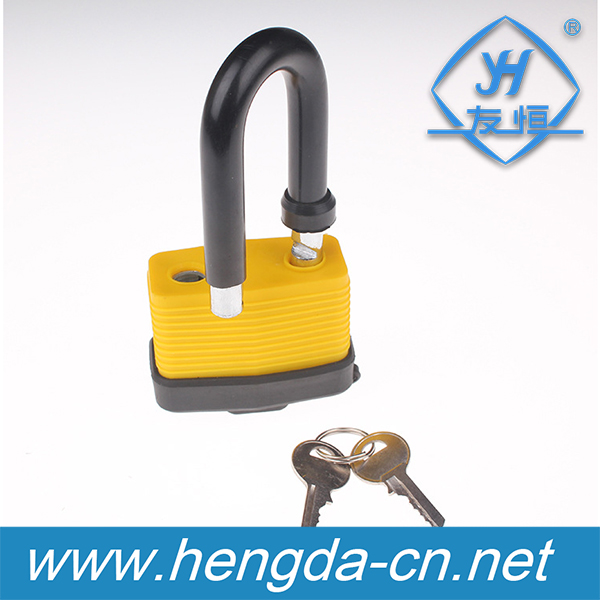 YH9108 Waterproof keyed alike pvc coat Safety Laminated padlock with 2 iron keys