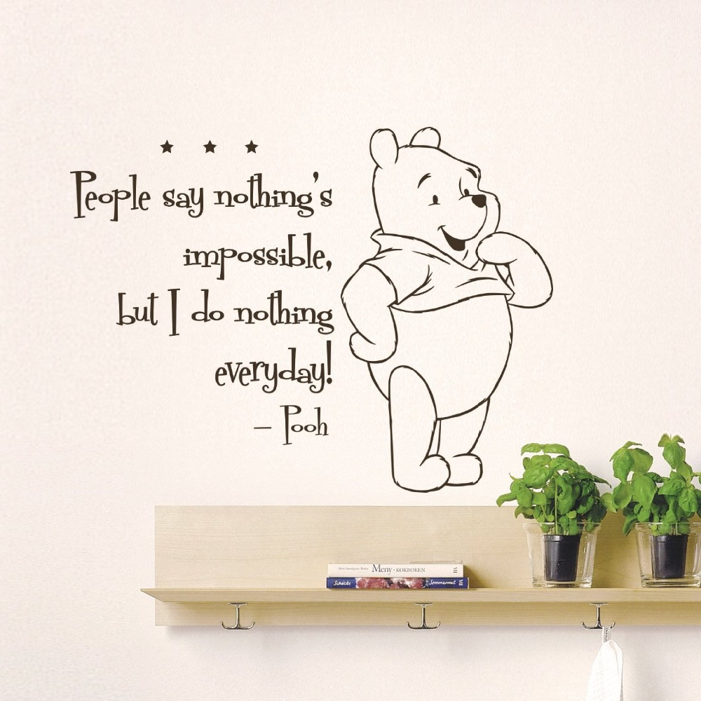Winnie The Pooh Wall Quotes: The Pooh Creative DIY Cute Winnie Home Decoration Baby