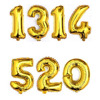 Party Foil Balloon with 1314 520 Number Helium Balloons