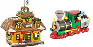 Department 56 Disney Village Mickey's Train Station and Engine 2013