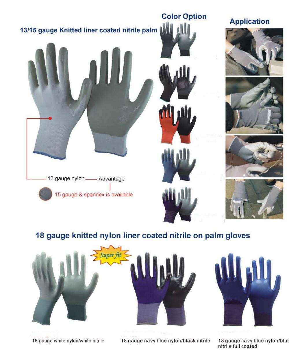 China alta calidad nitrilo guante guante de trabajo de - Guantes de seguridad ...