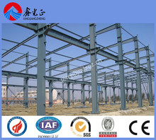 2016 economic steel structure workshop ,light metal steel frame with gray painting