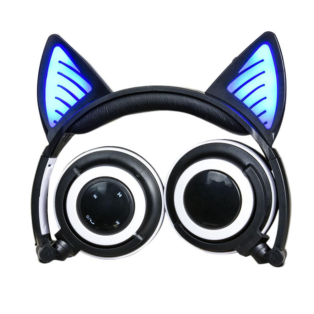 Newest Wireless headset glowing Cat ear Headphones