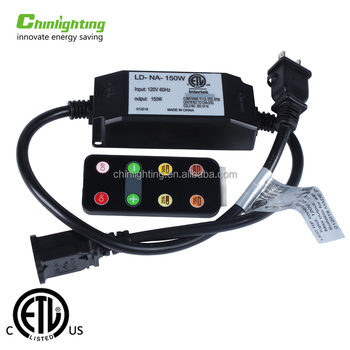 New product 150W Dimmer kit 120V input outdoor waterproof string light remote control dimmer