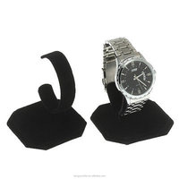 for Casio Watch black acrylic stand organizer, material hanging acrylic watch holder with solid base