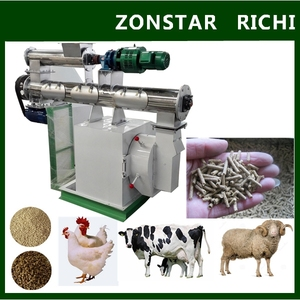 CE Certificate Ring Die Chicken Feed Pellet Mill Machine / Chicken Feed Pellet Processing Machine