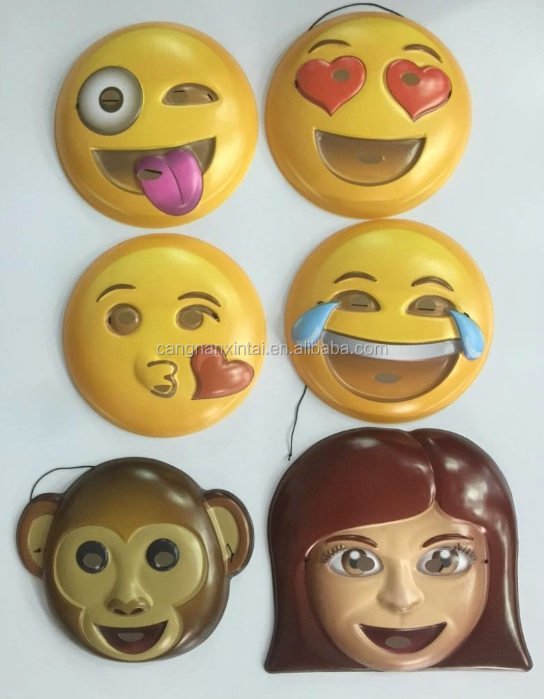 custom cheap real plastic face mask real character mask various colors