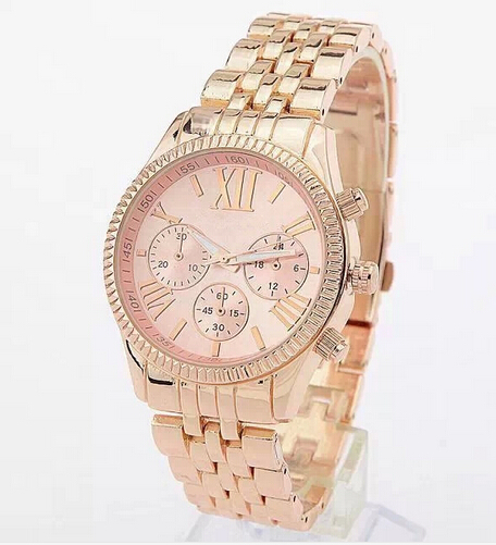 2015 TOP Brand Luxury Fashion Casual Michael Famous Watches Ladies Women Wristwatches Rose Gold Quartz Female Clock Reloj Mujer