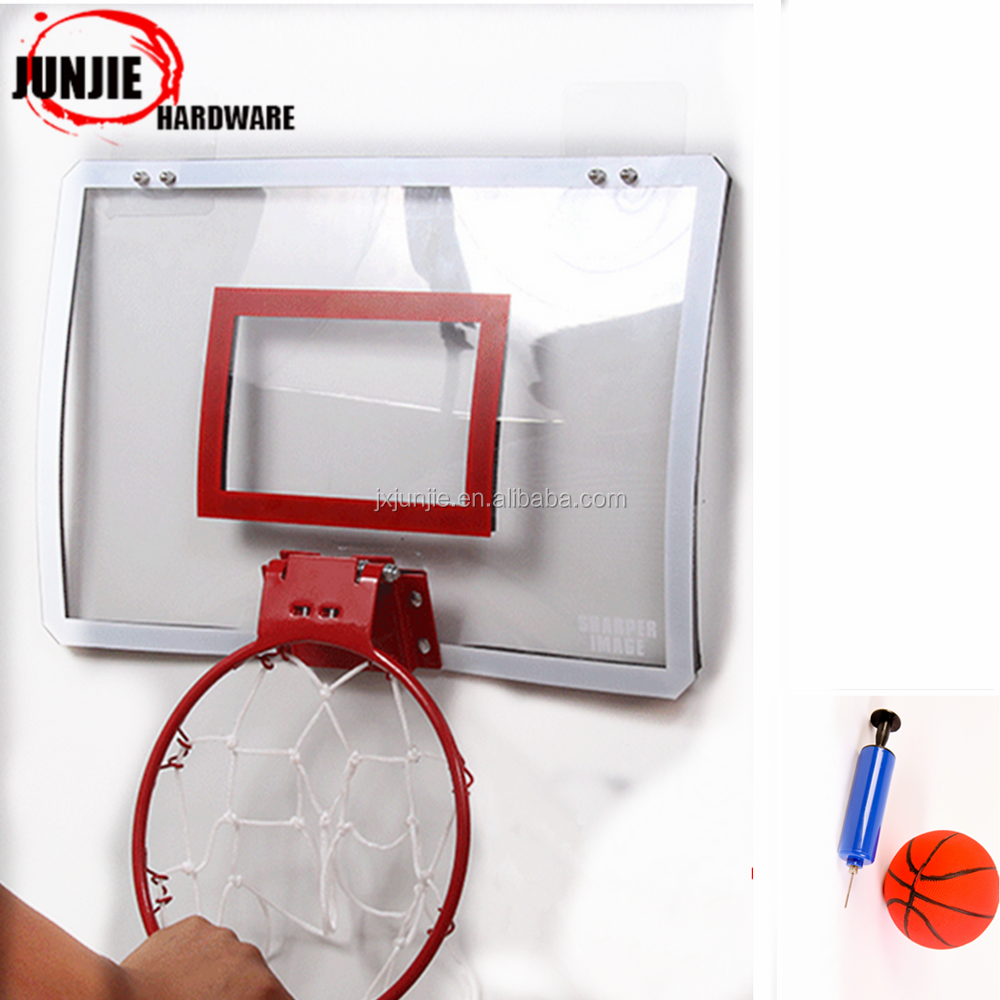 adjustable wall basketball hoop/stand/system for the office