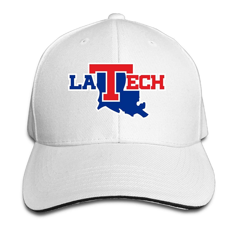 6265b69c519109 Get Quotations · Dadada Louisiana Tech University Bulldogs Unisex  Adjustable Sandwich Hunting Peak Hat & Cap Black