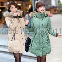 Для беременных одежда пальто одежда зима беременные женщины утиный пух куртки мех балахон беременность XS-6XL