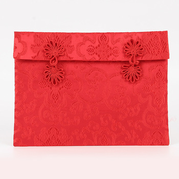 Chinese classical style gift Bag  Spring Festival red envelopes wallet  gift pouch with disc buckle
