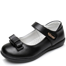 XS8803 bowknot buckle straps genuine leather girls dress shoes
