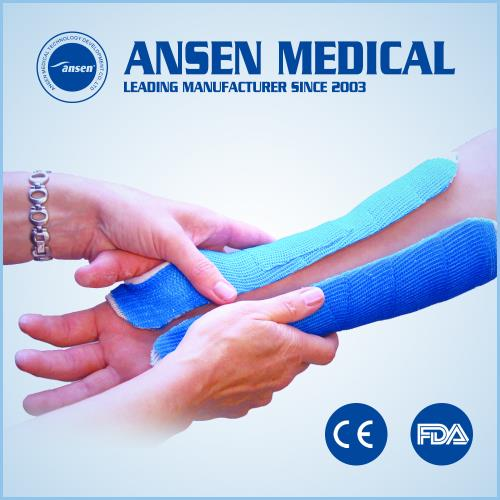 "Patterned Orthopedic Fiber Casting Bandage Water Activated Polyurethane Resin 4""Fiberglass Casting Tape"