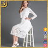 2016 Beautiful scalloped designs fashion women casual lace dress with scalloped edging
