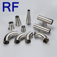 RF Customized Welcome Stainless Steel 304/316 Sanitary Fittings