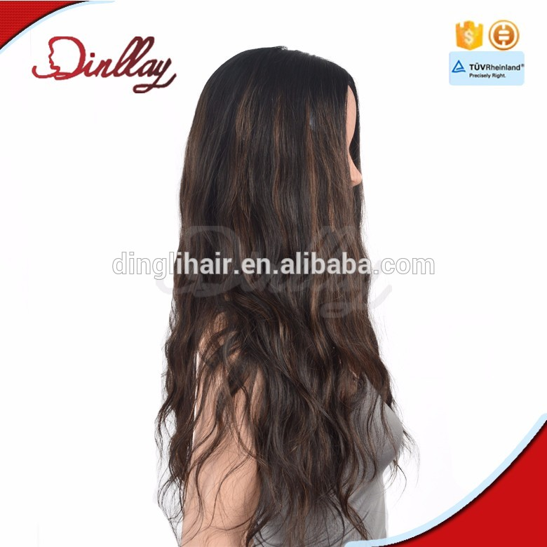 Highlight color Kosher wig with dark roots fashion design very hot sale remy hair