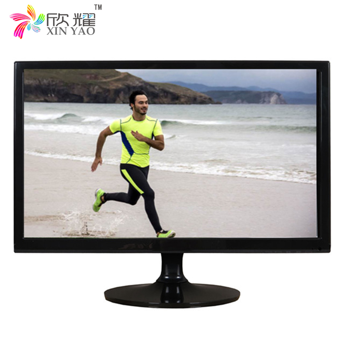 black cabinet tft 18.5 19.5 21.5 inch lcd tv spare parts with high resolution