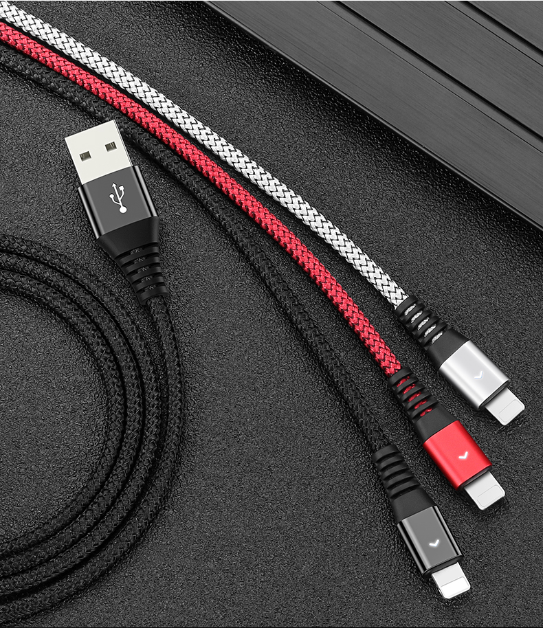 Cable USB de 8 pines 2.4A rápido de carga para iPhone 8 cargador de sincronización de datos de Cable USB para iPhone X 7 6 plus para iPad Mini iPad aire