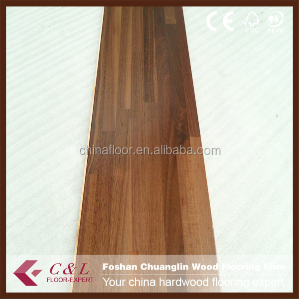 C&L fingerjoint natural American Walnut engineered wood flooring