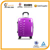 new design pure purple shiny abs luggage with hard side