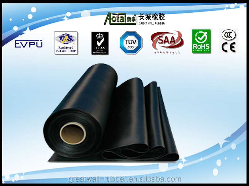 great wall top selling black SBR rubber sheet
