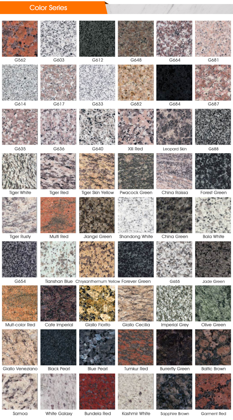 High Quality Natural Color Block Granite Interior Stone Stair Treads