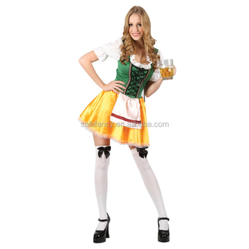 a611ccc2623 Ladies' Oktoberfest German Beer Girl Maid Bavarian Costume Fancy Dress  Halloween Costume Qawc-2091 - Buy Bavarian Costume,Sexy German Beer Girl ...