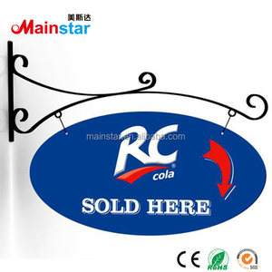 wall mounted metal store name sign board designs for shops