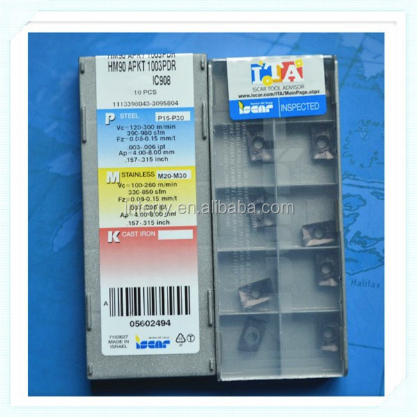 Grade IC908 Israel HM90 APKT 1003PDR Carbide Inserts 10 new ISCAR Tool