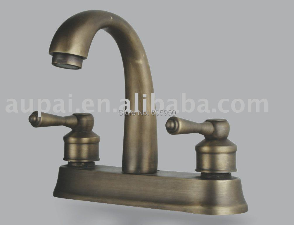 Free shipping dual hole classic mixer faucet antique brass - Antique brass faucets for bathroom ...