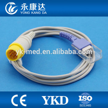 Mek spo2 sensor extension cable for patient monitor , 8pin 2.2m