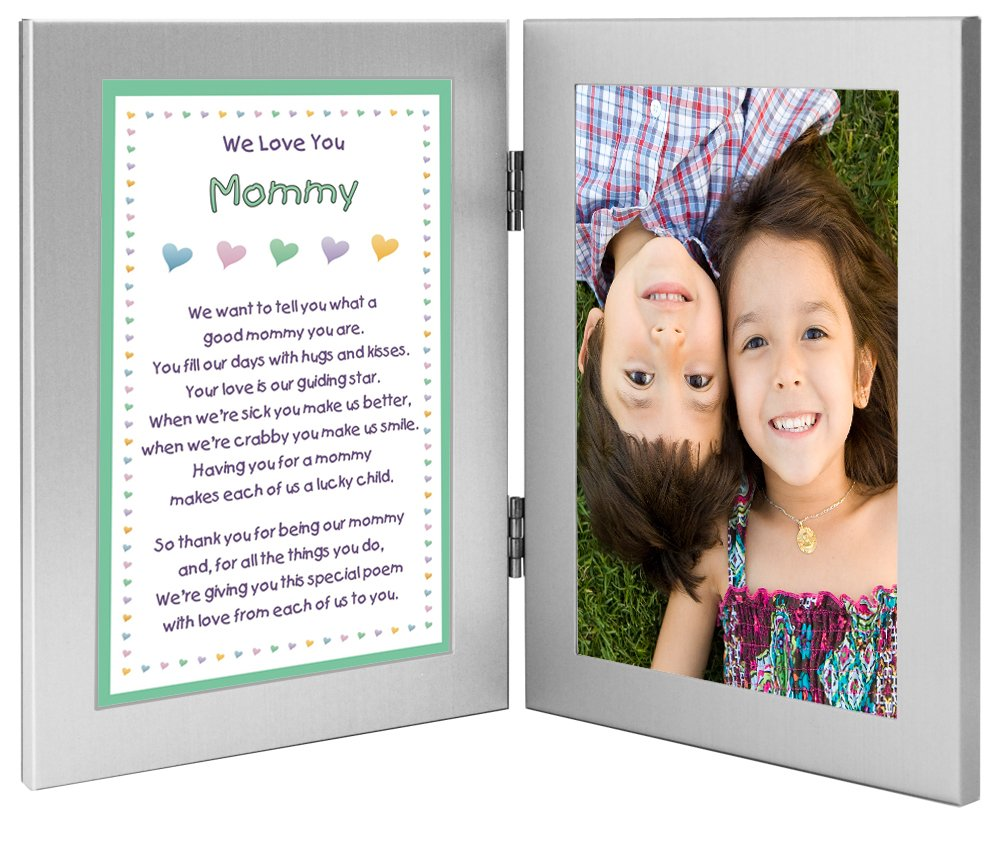 Birthday Gift for Mommy From Sons or Daughters in Double 4x6 Inch Frame - Add Photo
