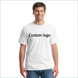 Free Sample Wholesale Cheap Custom Design Sublimation Blanks White Printing Men t shirt With Company Logo