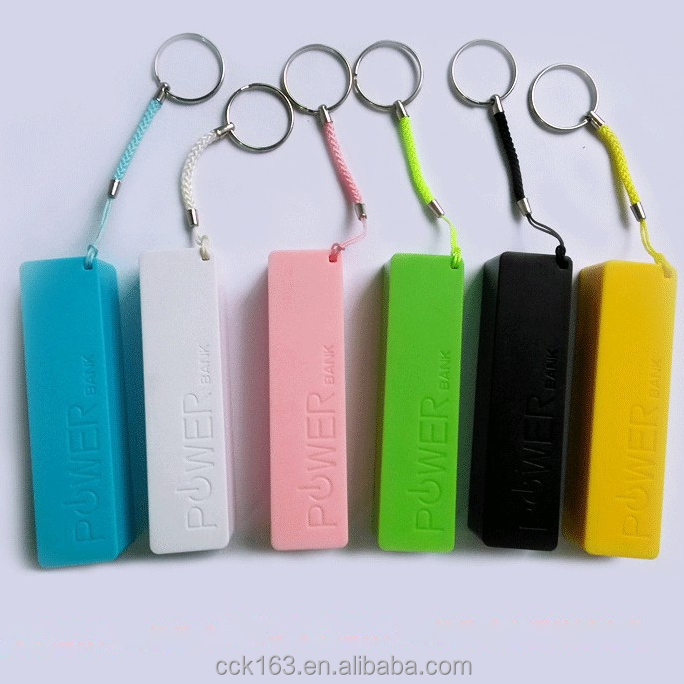 Fashion factory power bank,colorful 2600mah power bank portable mobile power bank with retail package