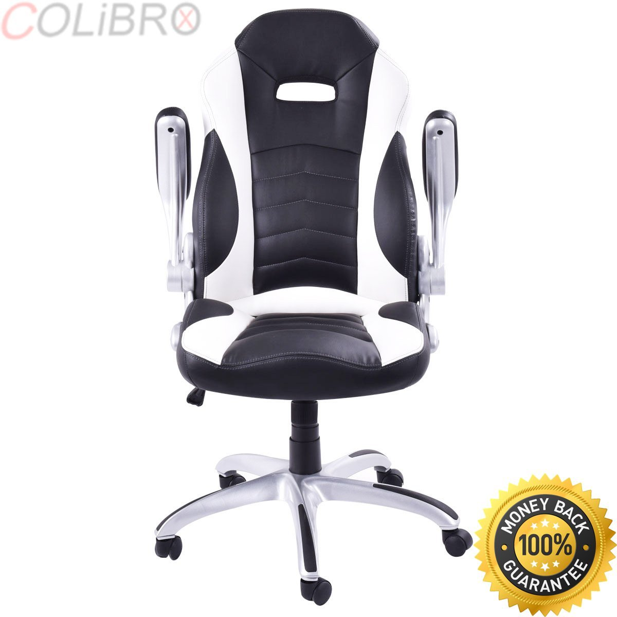 Get Quotations · COLIBROX  New PU Leather Executive Racing Style Bucket  Seat Office Desk Chair Gaming Chair