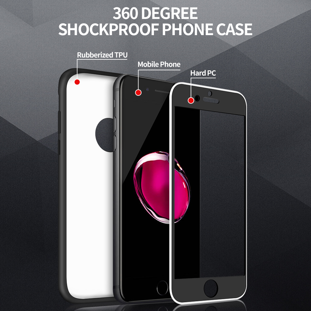 fashion 360 degree shockproof full phone cover custom front pc
