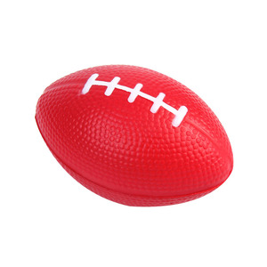 Custom printing promotional soft eco-friendly American football PU stress ball relief toys