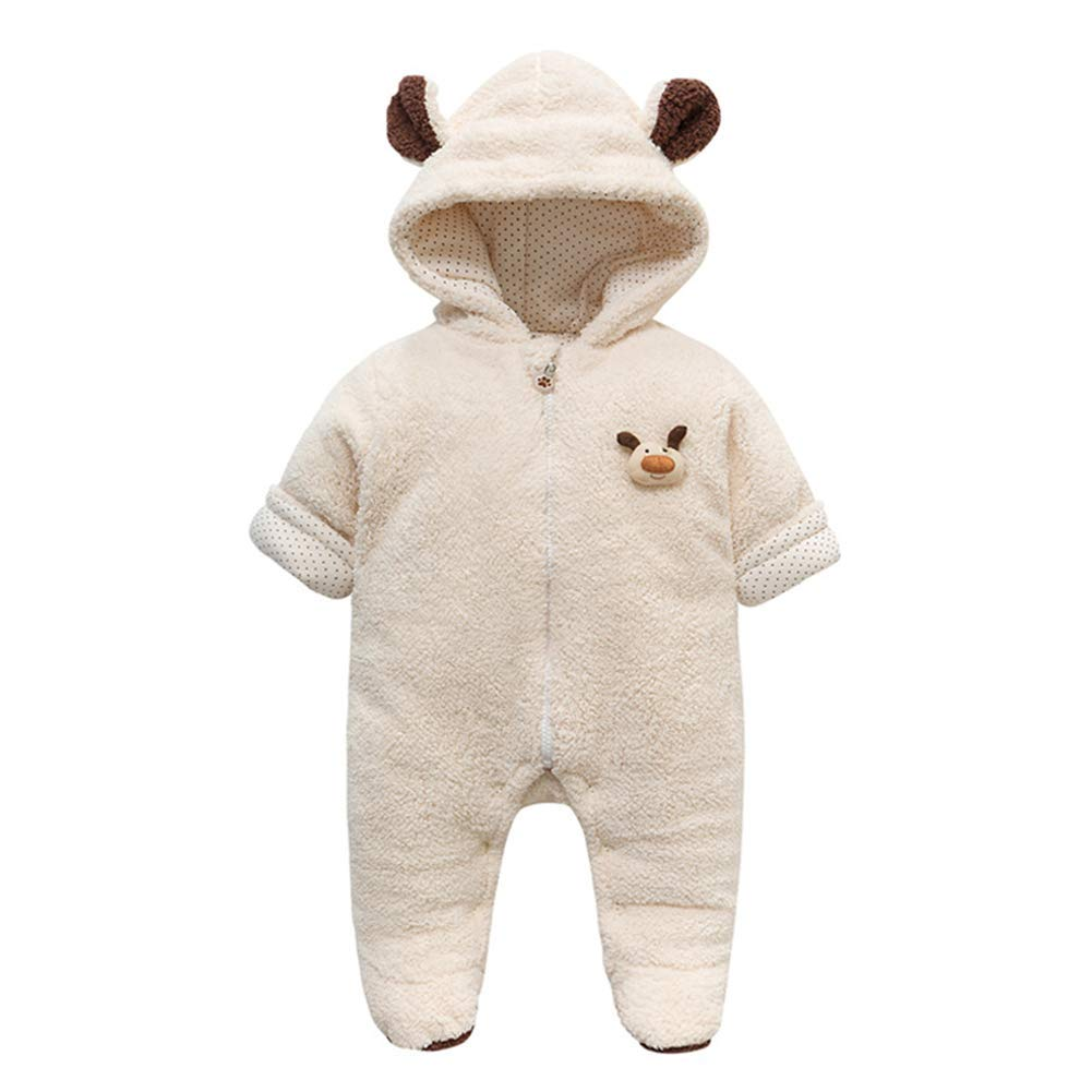 Fairy Baby Infant Baby Unisex Winter Thick Romper Outwear Warm Hood Fleece Jumpsuit