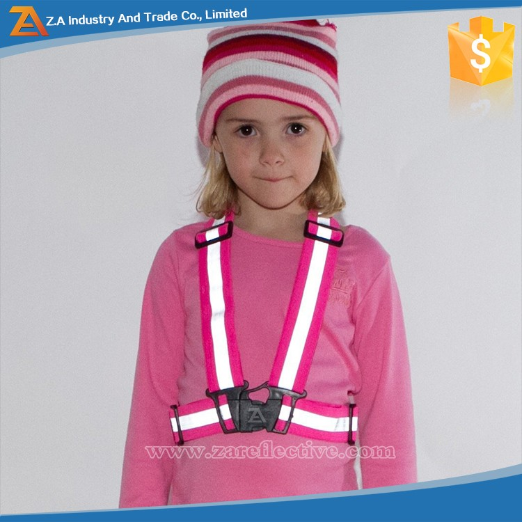 Nighty Walking /Jogging /Cycling Wearing Adjustable Small Size Safety Vest Reflective Kids