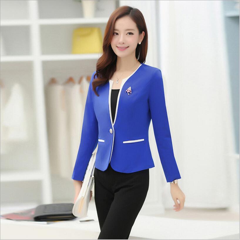S/M/L/XXL/3XL plus size women work wear suits 2015 new ...