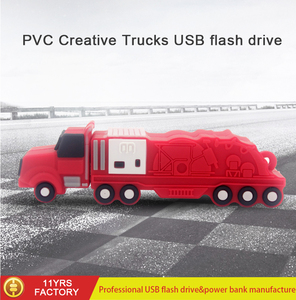 Customized Mould OEM PVC Truck USB 2.0 Memory Stick Flash pen Drive usb