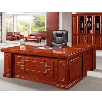 Wood Veneered MDF Chinese Traditional Office Desk For US Market