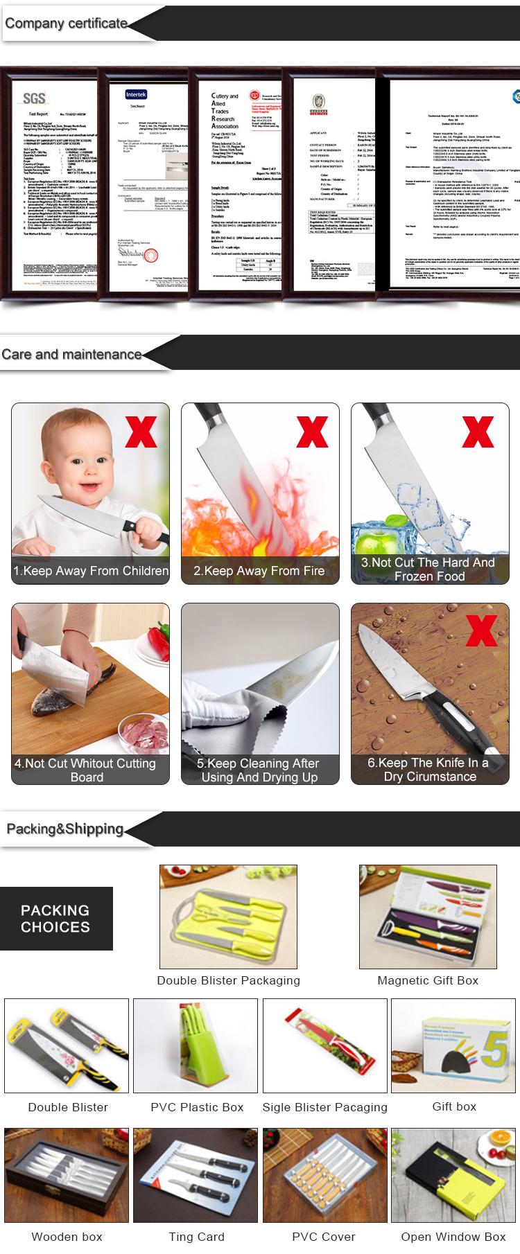 Resistente Alle macchie e A Prova di Ruggine Coltelli In Ceramica da cucina Set di coltelli con il Blocco