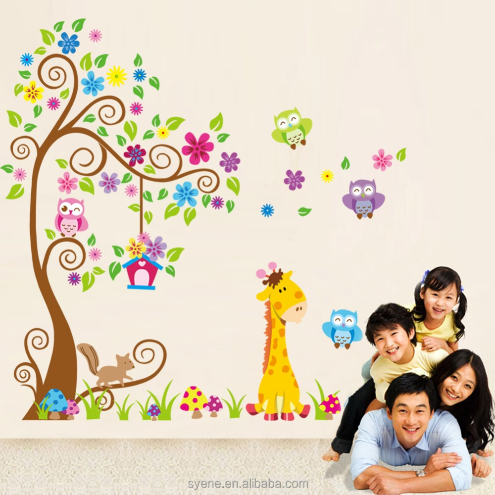 Owl Wall Stickers Owl Tree Branch Wall Decals 3d Wall Stickers Home De...