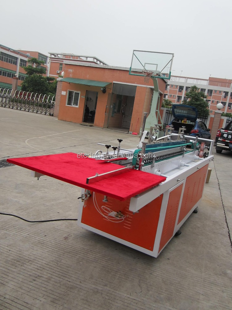 clear pvc pet packing boxes small gluing machine
