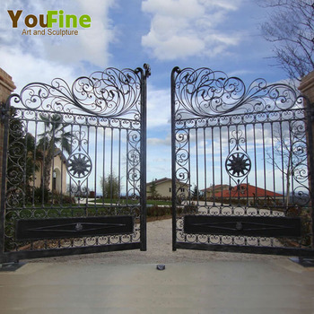 Cast Iron Gate Design/ Iron Fancy Gates For Homes