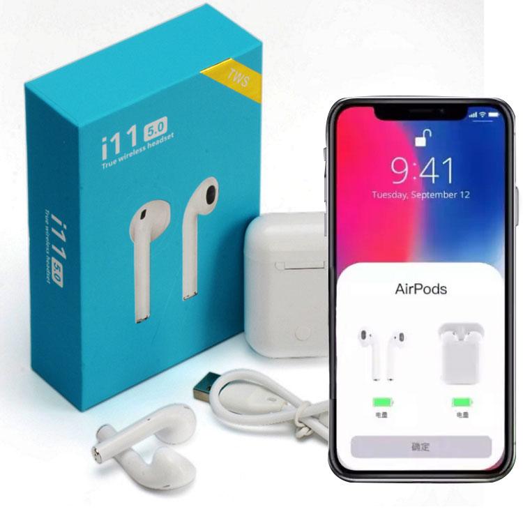 2019 Tws Wireless Headphones Touch I11 Tws Blue Tooth Siri Dual Call V5.0 Earphone Blue Box Audifonos Inalambricos Earbuds